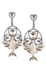 Carved Mammoth Caged Bird Earrings by BOCHIC for Preorder on Moda Operandi