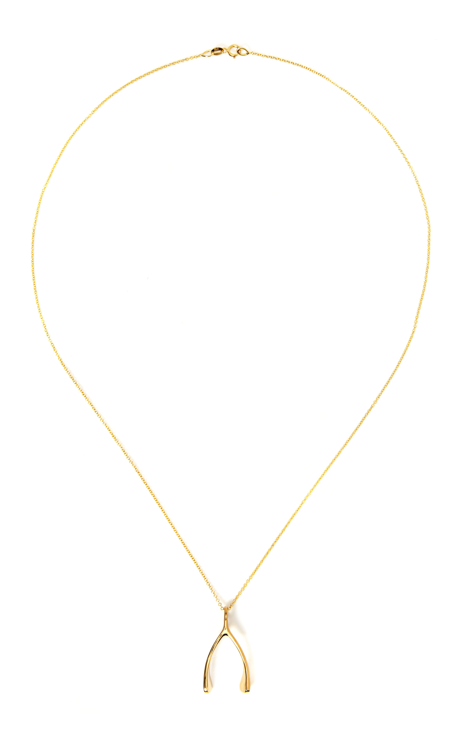 18k yellow gold wishbone necklace by jennifer meyer moda operandi 18k yellow gold wishbone necklace close loading aloadofball