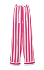 Iris Classic Striped Cotton Pajama Set by POPLIN Now Available on Moda Operandi