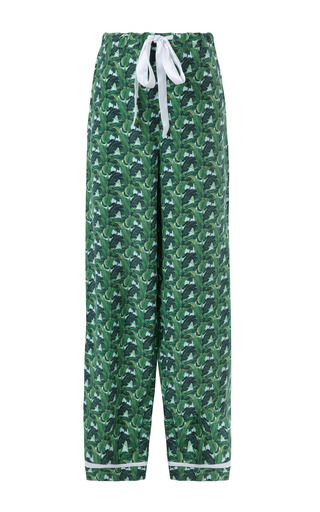 Indochine Classic Silk Pajama Set by POPLIN Now Available on Moda Operandi