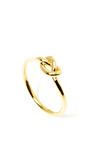 18 K Yellow Gold Love Knot Ring by GINETTE Now Available on Moda Operandi