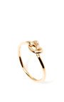 18 K Rose Gold Love Knot Ring by GINETTE Now Available on Moda Operandi