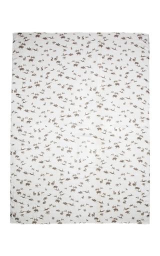 Rabbit Print Scarf by CAROLINA HERRERA for Preorder on Moda Operandi