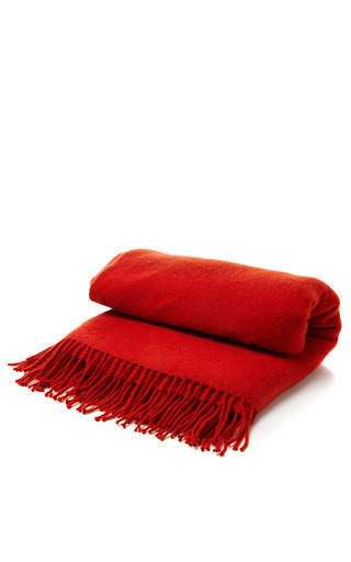 Hand Loomed Chevron Weave Cashmere Throw by ARMAND DIRADOURIAN Now Available on Moda Operandi