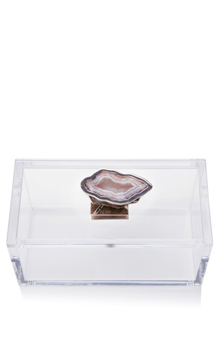 Lucite Box With Bezel Set Geode by KIMBERLY MCDONALD Now Available on Moda Operandi