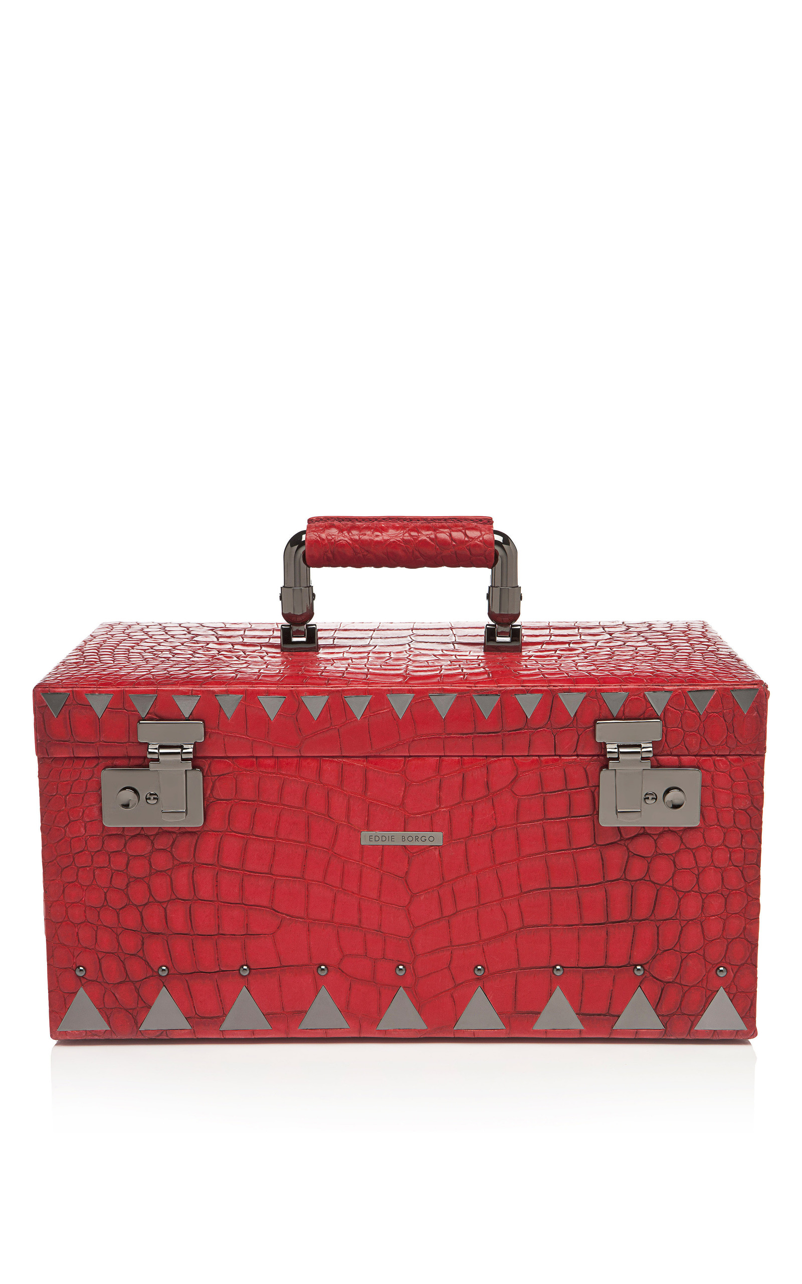 CrocodileEmbossed Leather Jewelry Box by Eddie Borgo Moda Operandi