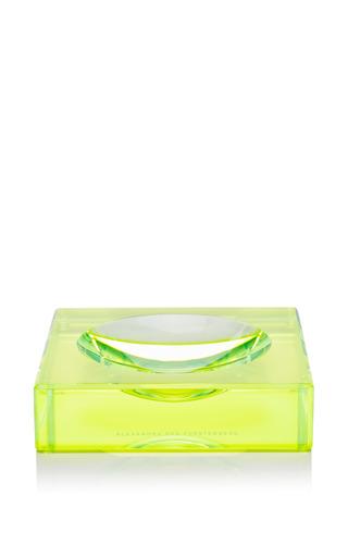 Medium alexandra von furstenberg green lucite chiclet candy bowl 2