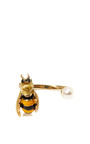 Gold Pearl And Enamel Bee Cuff Ring by DELFINA DELETTREZ Now Available on Moda Operandi