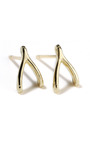 Wishbone Stud Earrings by JENNIFER MEYER Now Available on Moda Operandi