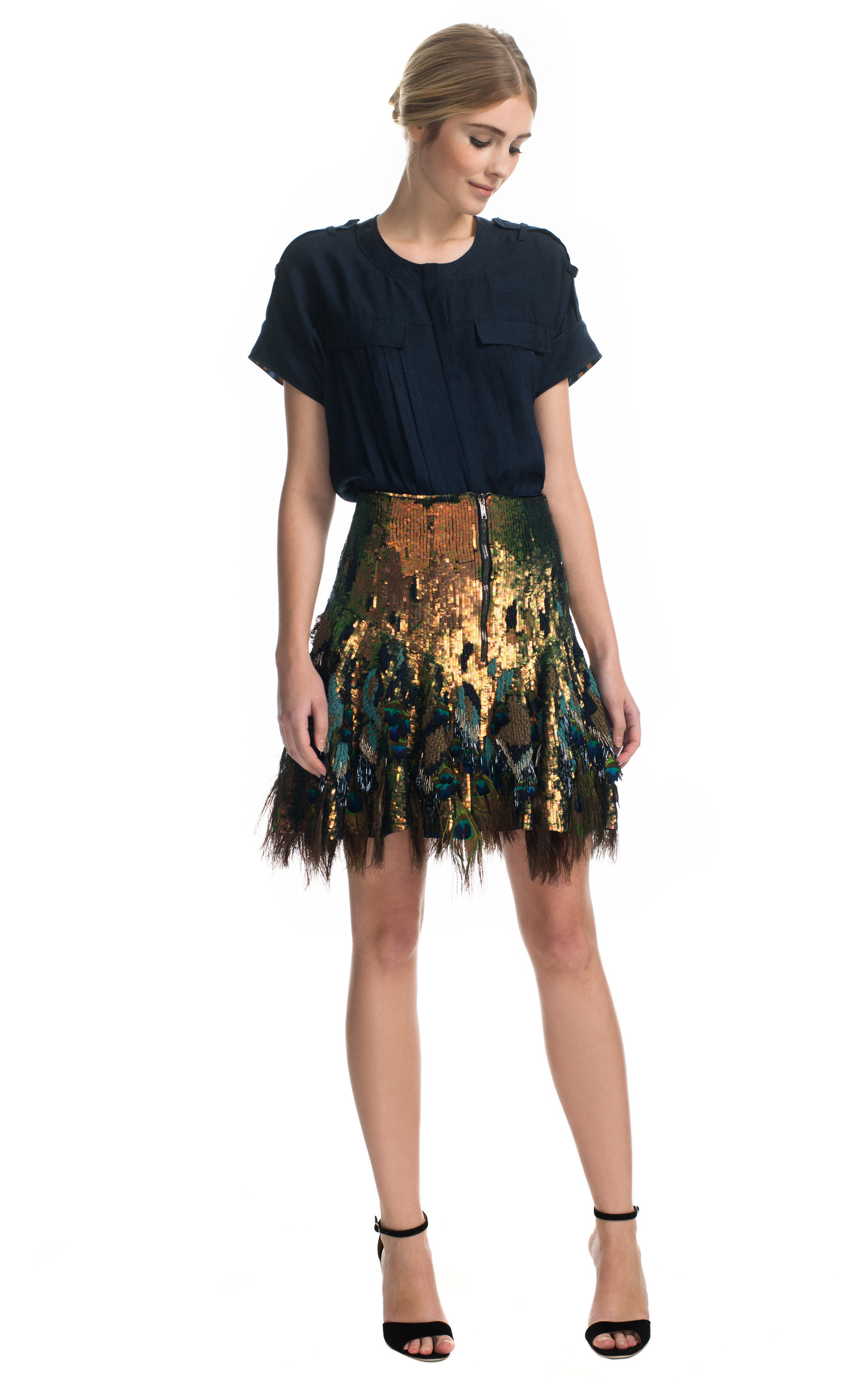 Peacock Feather Skirt 14