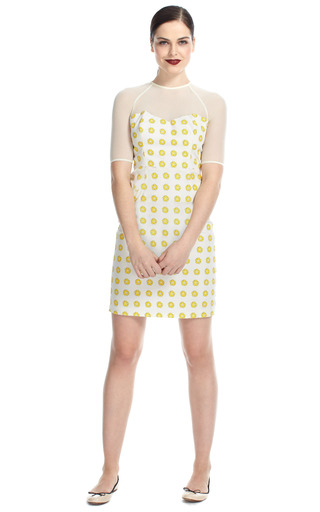 Floral Stamped Sweetheart Dress by OPENING CEREMONY Now Available on Moda Operandi