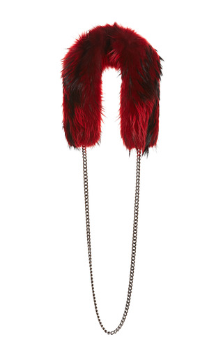 Raccoon Fur And Chain Eternity Collar by WYLER Now Available on Moda Operandi