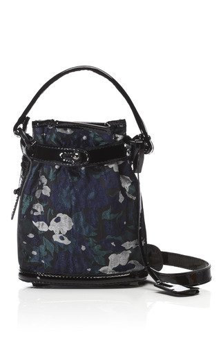 Navy Floral Jacquard Pop Up Bag by OPENING CEREMONY Now Available on Moda Operandi
