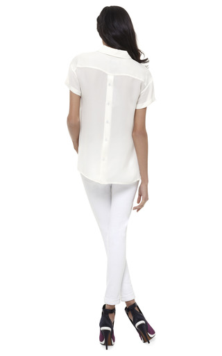 Short Sleeve Boxy Tee by OPENING CEREMONY Now Available on Moda Operandi