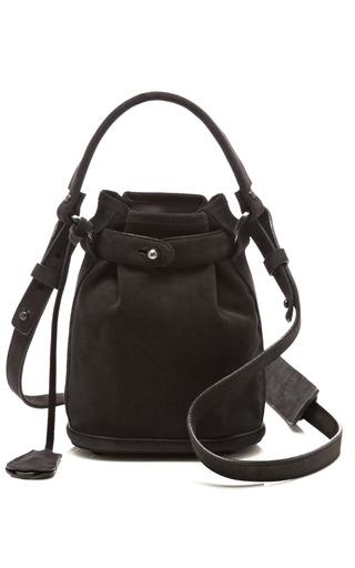 Medium opening ceremony black anthracite suede pop up bag