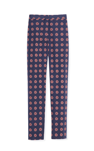 Medium opening ceremony multi floral stamp crop trouser