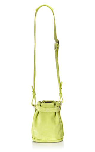 Lime Green Suede Pop Up Bag by OPENING CEREMONY Now Available on Moda Operandi