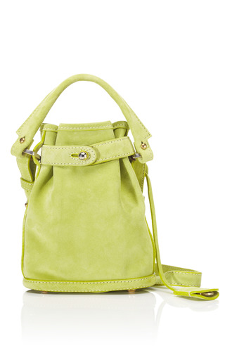 Medium opening ceremony green lime green suede pop up bag