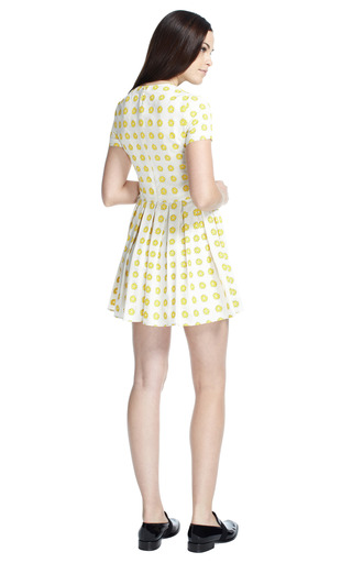 Printed Short Sleeve Pleated Dress by OPENING CEREMONY Now Available on Moda Operandi