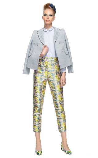 Floral Jacquard Fitted Pant by OPENING CEREMONY Now Available on Moda Operandi