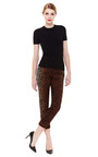 Giraffe Print Cropped Trouser by DEREK LAM Now Available on Moda Operandi