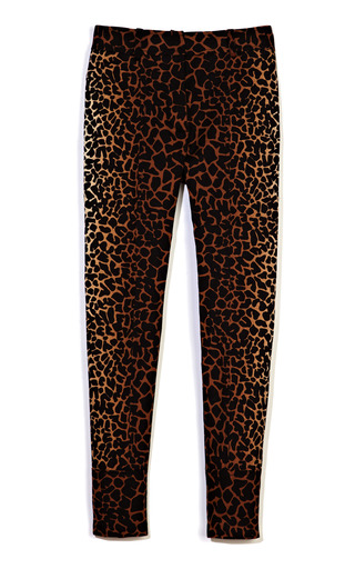 Medium derek lam multi giraffe print cropped trouser 2