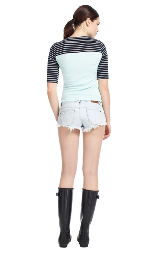 Multi Stripe Scuba Tee by OPENING CEREMONY Now Available on Moda Operandi