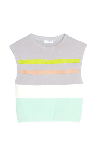 Memphis Stripe Sleeveless Top by OPENING CEREMONY Now Available on Moda Operandi