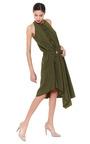 Washed Silk Belted Asymmetrical Dress by DEREK LAM Now Available on Moda Operandi