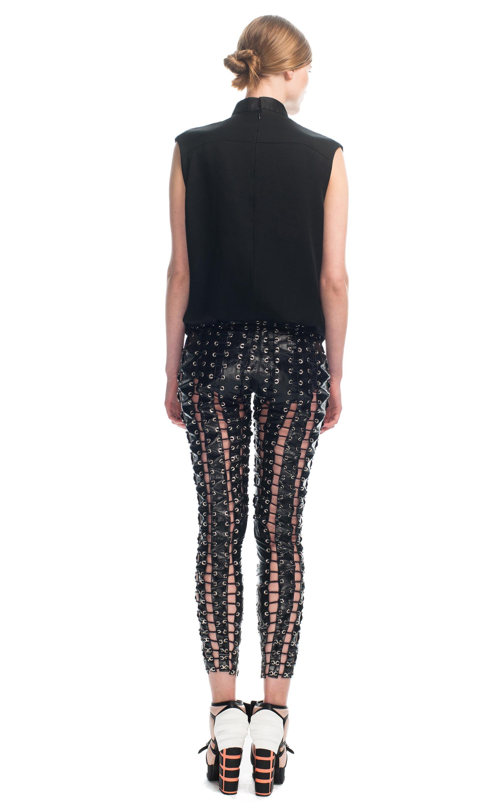 d3e40d8629714 Leather Grommeted Lace Up Pants by Rodarte | Moda Operandi