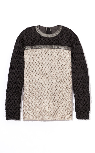 Medium rodarte black woven top