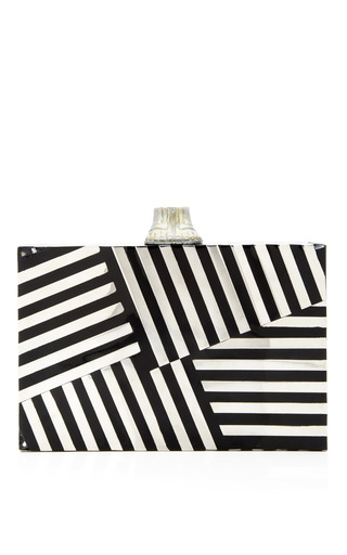 Black Fractured Clutch by KELLY WEARSTLER for Preorder on Moda Operandi