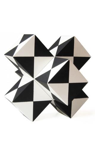 Medium kelly wearstler white marble trapezoid