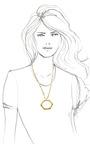 Bolt Necklace by KELLY WEARSTLER for Preorder on Moda Operandi