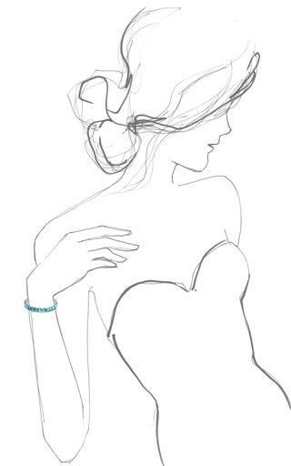 Baby Blue Emerald Cut Bracelet by HOUSE OF LAVANDE for Preorder on Moda Operandi