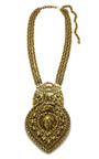 Goldette Triple Strand Chain Link Pendant Necklace by HOUSE OF LAVANDE Now Available on Moda Operandi