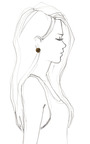 Smoky Topaz Faceted Button Earrings by HOUSE OF LAVANDE for Preorder on Moda Operandi
