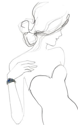 Hobe Glass Cabochon Cuff by HOUSE OF LAVANDE for Preorder on Moda Operandi