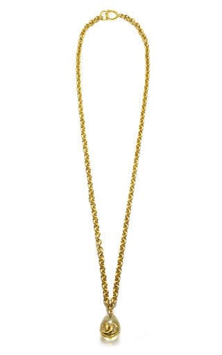 Chanel Lucite Pendant Necklace by HOUSE OF LAVANDE for Preorder on Moda Operandi