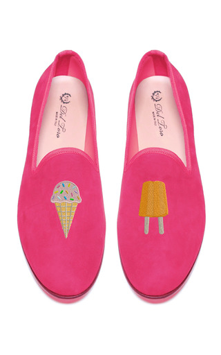 Medium del toro pink prince albert ice cream slipper loafers