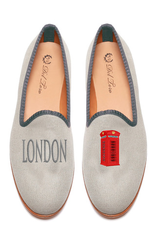 Medium del toro white prince albert london telephone booth slipper loafers