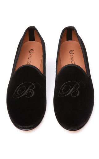 Medium del toro black prince albert monogram slipper loafers