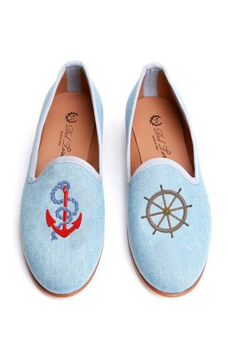 Medium del toro blue prince albert nautical slipper loafers