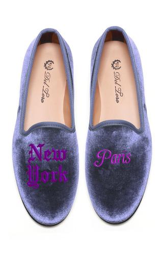 Medium del toro purple prince albert new york paris slipper loafers