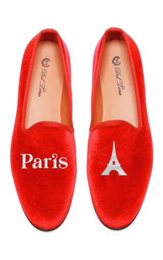 Medium del toro red prince albert paris eiffel tower slipper loafers