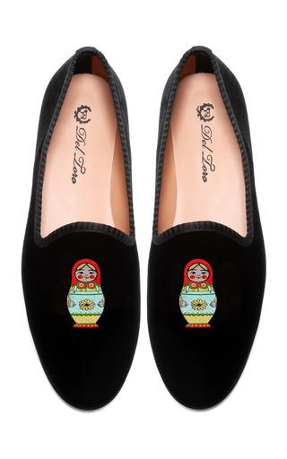 Medium del toro black prince albert matryoshka slipper loafers