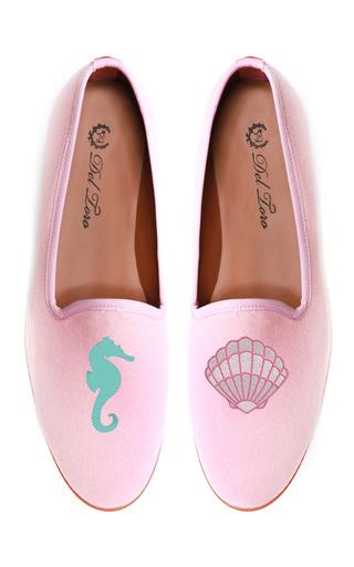 Prince Albert Seahorse | Clam Slipper Loafers by DEL TORO for Preorder on Moda Operandi