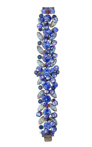 Medium carole tanenbaum multi juliana crackled glass marquis bracelet