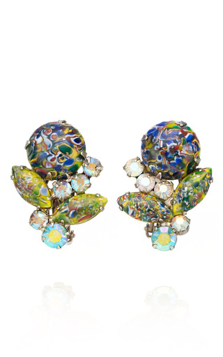Medium carole tanenbaum multi juliana claw cabochon earring