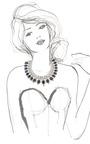 Alan Anderson Diamante Necklace by CAROLE TANENBAUM for Preorder on Moda Operandi